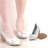 Harga Up Ladies Leather Sepatu Dengan Slope Mom Anti Selip Pantofel Putih Intl Seken