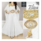 Up2Date Kaftan Eliza Putih Original