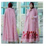 Toko Up2Date Kaftan Raisa Brukat Pink Up2Date