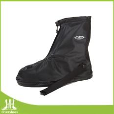 Upgrade Penebalan Covered Edge Skid Resistance Tahan Aus Tahan Banting Waterproof Rain Boots Cover untuk Pria dan Wanita (hitam) -Intl