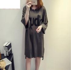 UR Korea Korea Fashion Big Size Dress Hijau Tentara-Internasional