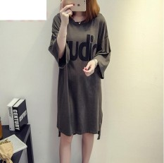UR Korea Korean fashion Big size dress Army Green - intl