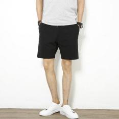UR Solid Celana Pendek Longgar-Hitam-Intl