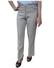 Beli Urban Act Celana Panjang Bahan Slim Fit Formal Wanita Caramel Khaki Murah