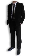 Beli Urban Act Setelan Celana Dan Jas Formal Kancing 2 Hitam Online