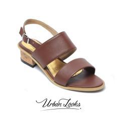Dimana Beli Urban Looks Diandra Dark Brown Mid Low Heels Urban Looks