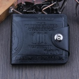 Harga Us Dollar Bill Wallet Brown Leather Wallet Bifold Credit Card Photo Intl Baru Murah