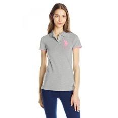 AS POLO Assn. Juniors Kontras Patch BP Shirt, Gray Heather,-Intl