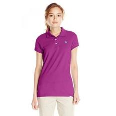 AS POLO Assn. Juniors Solid Pique Polo Shirt, Byzantium, Medium-Intl