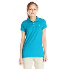 AS POLO Assn. Juniors Solid Pique Polo Shirt, Surf Blue,-Intl