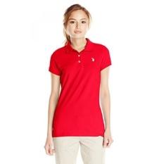 AS POLO Assn. Juniors Solid Pique Polo Shirt, Tomat,-Intl