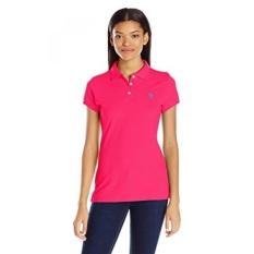 AS POLO Assn. Juniors Solid Pique Shirt, Bright Rose,-Intl