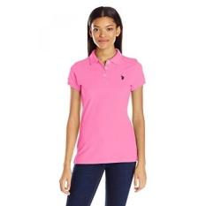 AS POLO Assn. Juniors Solid Pique Shirt, Shocking Pink,-Intl