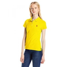 AS POLO Assn. Juniors Solid Polo Shirt dengan Pony, Berlayar Kuning,-Intl