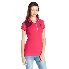 Sebagai POLO Assn. Juniors Polos Pique Polo Kaus With Quilted Bahu Detail, Berry Bug,-Internasional