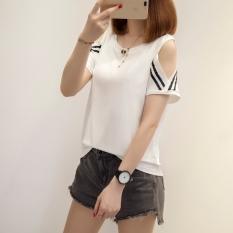 Beli Usaha Seksi Putih Perempuan Lengan Pendek Leher Bulat T Shirt 917 Putih Baju Wanita Baju Atasan Kemeja Wanita Nyicil