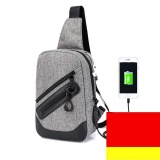 Iklan Usb Charge Port Men Women Small Shoulder Bags Chest Packs Casual Sling Bags Intl