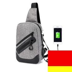 Harga Usb Charge Port Men Women Small Shoulder Bags Chest Packs Casual Sling Bags Intl Alphun Online
