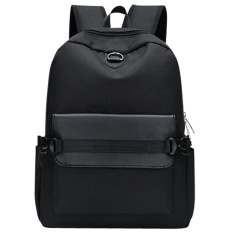 USB Pengisian Pria Backpack Casual Travel Women Notebook Laptop Tas Sekolah (Hitam)-Intl