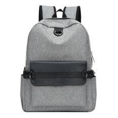 USB Pengisian Pria Backpack Casual Travel Women Notebook Laptop Tas Sekolah (Grey)-Intl