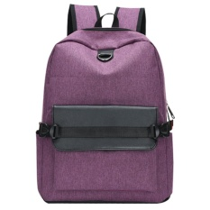USB Pengisian Pria Backpack Casual Travel Women Notebook Laptop Tas Sekolah (Ungu)-Intl