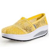 Ushoes U100516 Perempuan Fahion Baji Dia Kets Sepatu Olahraga Sepatu Platform Wanita Baji 2015 Kuning Oem Diskon 50