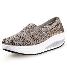 Toko Ushoes U100517 Perempuan Fahion Baji Her Kets Sepatu Olahraga Abu Abu Termurah Tiongkok