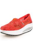 Ulasan Lengkap Ushoes U100520 Perempuan Fahion Baji Kets Dia Her Sports Platform Wanita Baji 2015 Oranye