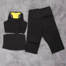 Harga Ustore 3Pcs Hot Shaper Slimming Fitness Sportswear Waistbelt Pants Vest Set L Intl Oem Ori