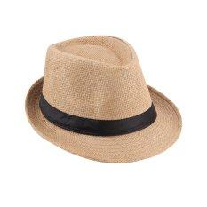 Beli Ustore Unisex Fedora Trilby Hat Cap Straw Panama Gaya Packable Travel Sun Hat Intl Oem Online