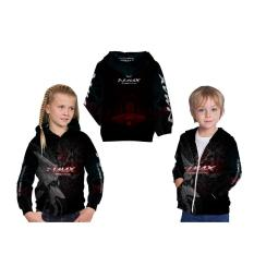 [Utama Media] Jaket Hoodie Sweater Anak Unisex NMAX 3D Printed Sublimation - Art 3