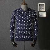 Harga Kasual Bisnis Muda Sweter Sweater Pria Biru Paling Murah