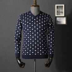 Harga Kasual Bisnis Muda Sweter Sweater Pria Biru Terbaru