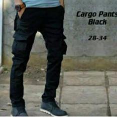 Valco Celana Cargo / PDL Panjang Pria Slimfit Premium Fashion Celana Pria - - Hitam