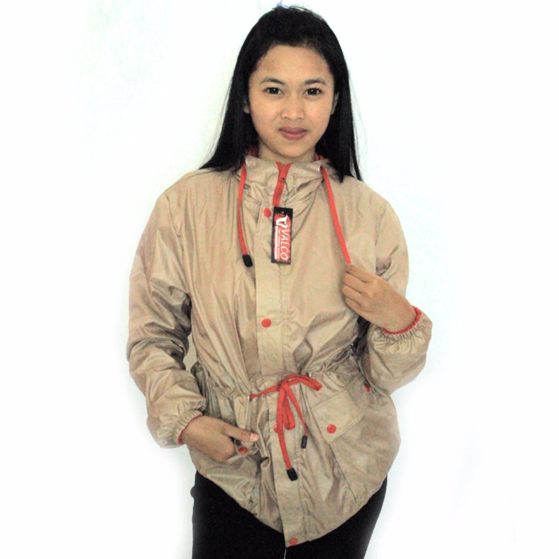 Bandingkan Toko Valco Jaket Parasut Bolak Balik Wanita - Coffee/Coklat - Merah sale -