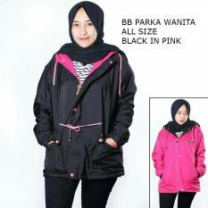 Valco Jaket Parka Bolak Balik 2 In 1 All Size Wanita Hitam Dalam Pink Original