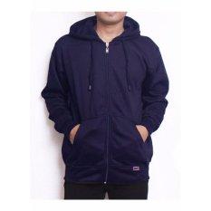 Beli Valco Jaket Sweater Hoodie Zipper Navy Cicilan