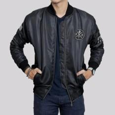 Jaket Bomber Pria Trendy Premium hitam/Navy Blue/Maroon