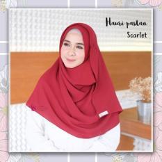 Valisha Hauri Pashmina Instan Scarlet - Hijab Kerudung Khimar Jilbab