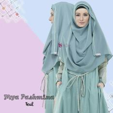 Valisha Mya Pashmina Instan Teal - Hijab Kerudung Khimar Jilbab Syari