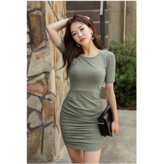 vanessa dress korea abu Dress Pesta / Dress Korea / Dress Wanita / Rok Wanita / Dress Bodycon / Dress Midi / Dress Kasual / Gaun Pesta / Dress Spandek