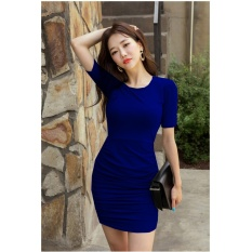 vanessa dress korea navy Dress Pesta / Dress Korea / Dress Wanita / Rok Wanita / Dress Bodycon / Dress Midi / Dress Kasual / Gaun Pesta / Dress Spandek