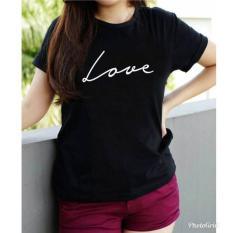Vanessa Tumblr Tee / T-Shirt LOVE / T-shirt Wanita / Kaos Cewek / Tumblr Tee Cewek / Kaos Wanita Murah / Baju Wanita Murah / Kaos Lengan Pendek / Kaos Oblong / Kaos Tulisan