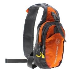 Review Vanker Sling Bag Tas Pria Bahan Nilon Model Diagonal Warna Orange Oem