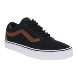 Review Vans C L Old Skool Sneakers Black Material Mix Terbaru