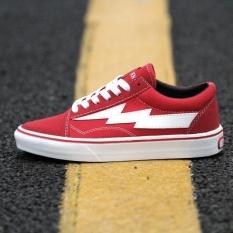 VANS KANYE Revenge X Storm Old Skool shoes for men's and women's os skateboarding sneakers(black)