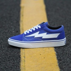 VANS KANYE Revenge X Storm Old Skool shoes for men's and women's os skateboarding sneakers(blue)