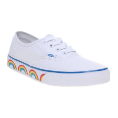 Toko Vans Rainbow Tape Authentic Sneakers True White Blue Terdekat