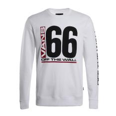 Vans Vn0a33xtblk Baru Pria Sweter Kebugaran Kasual Kaos Sweater (VN0A33XTWHT)