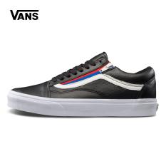 Vans vn0a3493ou8/93ou9 asli pria kasual sepatu skateboard (Hitam)